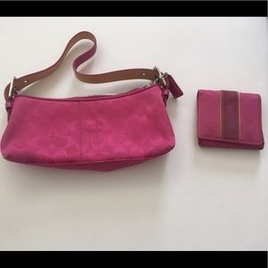 Coach Purse with Wallet and Dust Bag